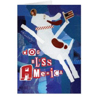 Dog Bless America Greeting Card