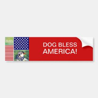 Dog Bless America Patriotic Bumper Sticker