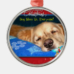 Dog Bless Us, Everyone! Framed Holiday Ornament