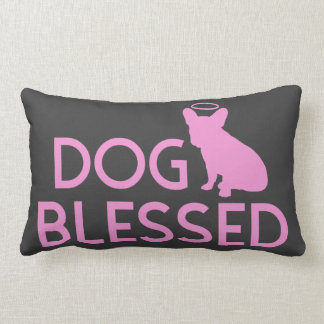"""Dog Blessed"" French Bulldog Angel Accent Pillow"