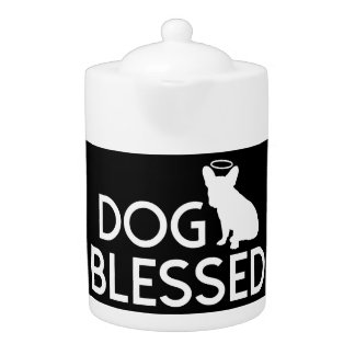 """Dog Blessed"" French Bulldog Angel Teapot"