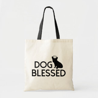 """Dog Blessed"" French Bulldog Angel Tote Bag"