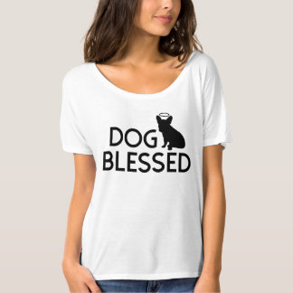 """Dog Blessed"" French Bulldog Angel Womens Tee"