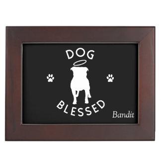 """Dog Blessed"" Personalized Pit Bull Keepsake Box"