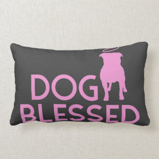"""""""Dog Blessed"""" Pit Bull Angel Accent Pillow"""