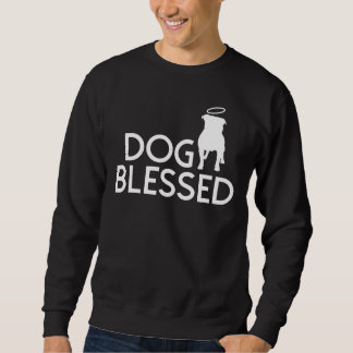 """Dog Blessed"" Pit Bull Angel Basic Sweatshirt"