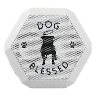 """Dog Blessed"" Pit Bull Angel Bluetooth Speaker"