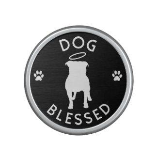 """""""Dog Blessed"""" Pit Bull Angel Bumpster Speaker"""