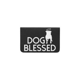 """Dog Blessed"" Pit Bull Angel Card Case"