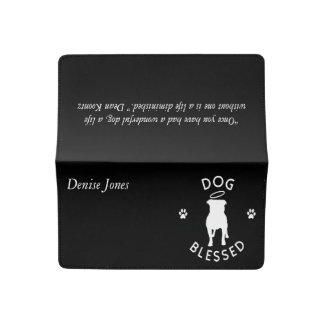 """Dog Blessed"" Pit Bull Angel Checkbook Cover"