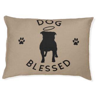 """Dog Blessed"" Pit Bull Angel Dog Bed"