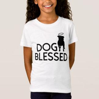 """Dog Blessed"" Pit Bull Angel Girl's Tee"