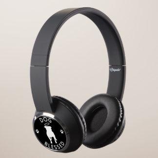 """""""Dog Blessed"""" Pit Bull Angel Headphones"""