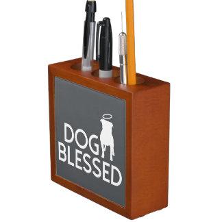 """Dog Blessed"" Pit Bull Angel Pencil Holder"