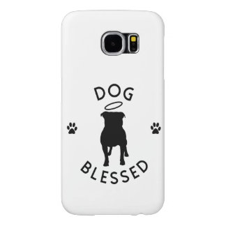 """Dog Blessed"" Pit Bull Angel Samsung Galaxy Case"