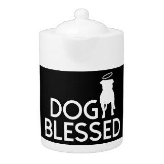 """""""Dog Blessed"""" Pit Bull Angel Teapot"""