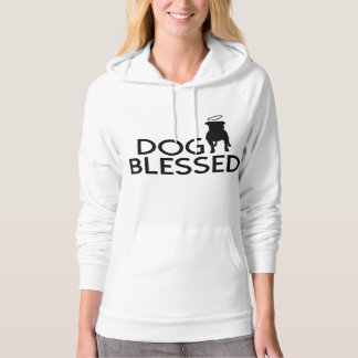 """""""Dog Blessed"""" Pit Bull Angel Womens Hoodie"""