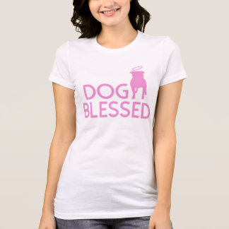 """""""Dog Blessed"""" Pit Bull Angel Womens Tee"""
