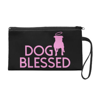 """Dog Blessed"" Pit Bull Angel Wristlet"