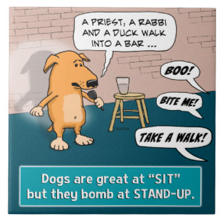 Dog Bombing at Standup Comedy Club Tile