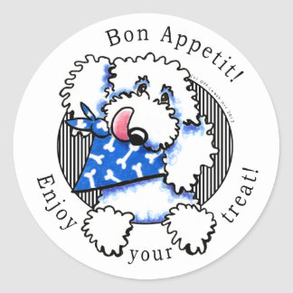 Dog Bon Appetit! Pet Treats Labels White