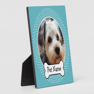 Dog Bone and Blue Polka Dot Pet Photo Frame