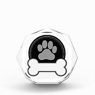 Dog Bone and Paw Acrylic Award