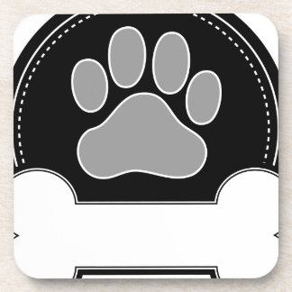 Dog Bone and Paw Drink Coaster