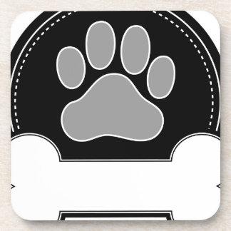 Dog Bone and Paw Drink Coasters