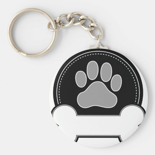 Dog Bone and Paw Key Chain