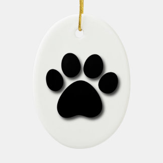 Dog Bone and Paw Pet Themed Gift Z33 Ceramic Ornament