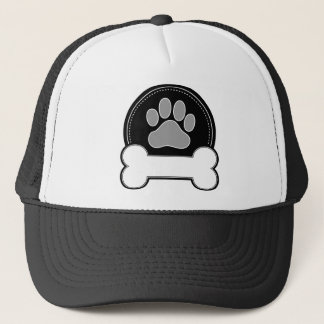 Dog Bone and Paw Trucker Hat