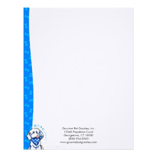 Dog Bone Appetit! Gourmet Dog Food Biz Blueberry Letterhead