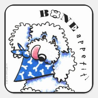 Dog Bone Appetit! Gourmet Pet Foods Bold White Stickers