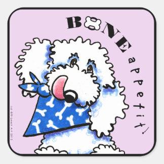 Dog Bone Appetit! Gourmet Pet Foods Thistle Square Sticker