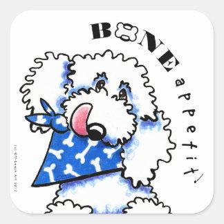 Dog Bone Appetit! Gourmet Pet Foods White Square Sticker