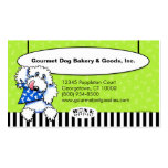 Dog Bone Appetit! Specialty Pet Foods Olive Business Card Template
