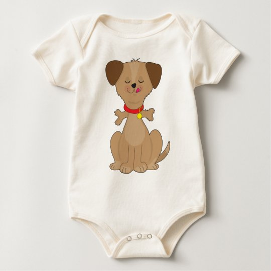 Dog Bone Baby Bodysuit