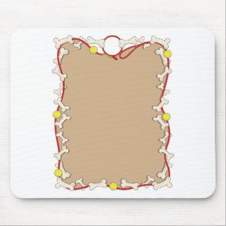 Dog Bone Border Mouse Pad