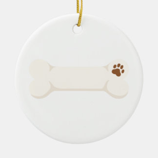 Dog Bone Ceramic Ornament