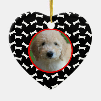 Dog Bone Christmas Puppy Picture Holiday Frame Christmas Tree Ornaments