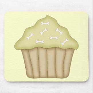 Dog Bone Cupcake Mouse Pad