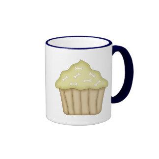 Dog Bone Cupcake Ringer Coffee Mug