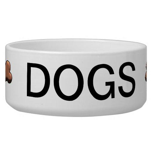 Dog Bone Custom Pet Bowl