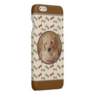 Dog Bone Custom Pet Photo Picture Frame Glossy iPhone 6 Case