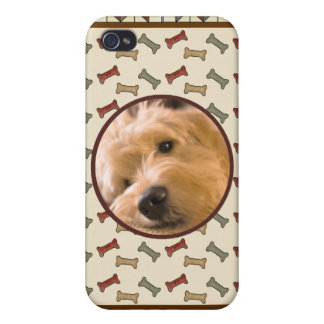 Dog Bone Custom Photo Frame Personalized Cover For iPhone 4
