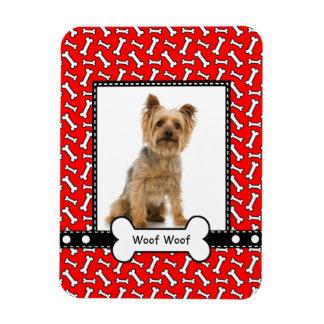 Dog Bone Custom Puppy Portrait Frame Magnet