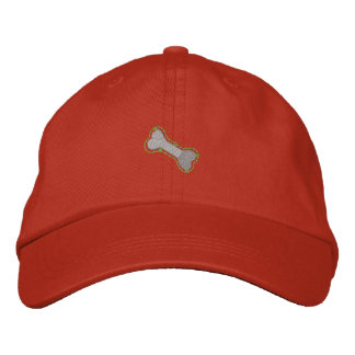 Dog Bone Embroidered Baseball Cap