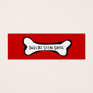 Dog Bone Graphic Business Card