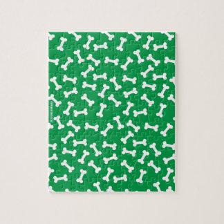 Dog Bone  Green Jigsaw Puzzle